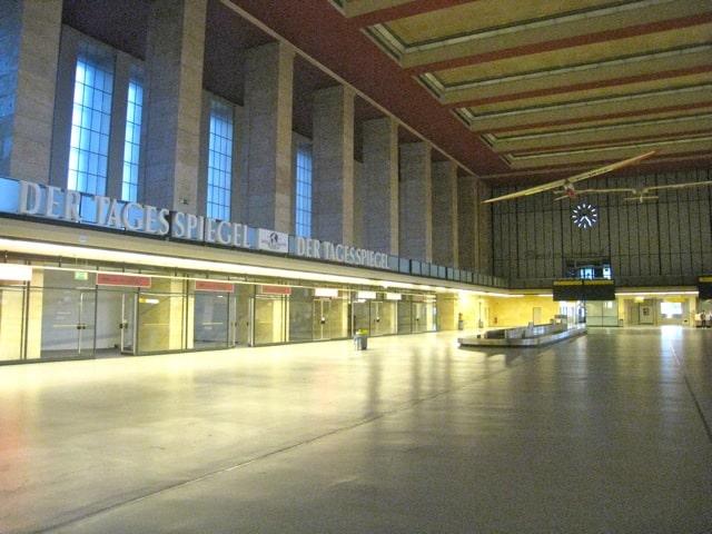 luggage baggage area berlin tempelhof airport terminal