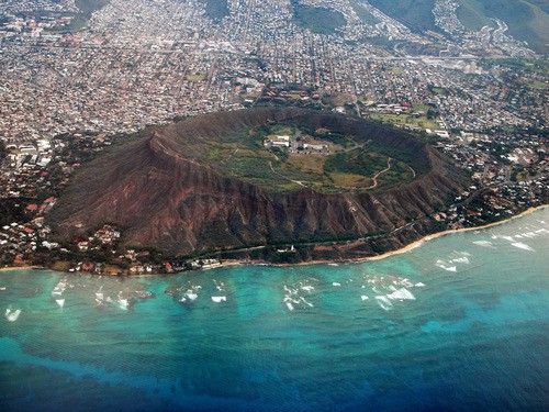 diamond head from above