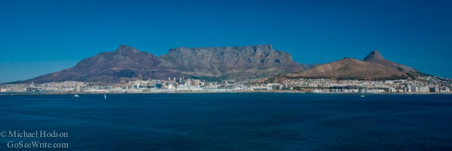 Table Mountain view from the ocean