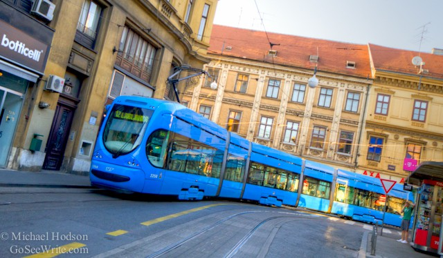 streetcar trains in zagreb croatia