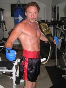 Danny Bonaduce shirtless with boxing gloves