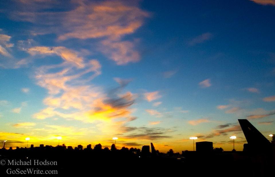 san diego airport sunrise