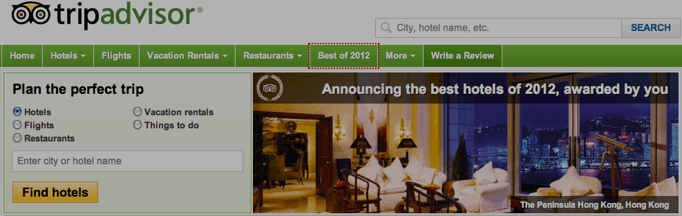 trip advisor screenshot