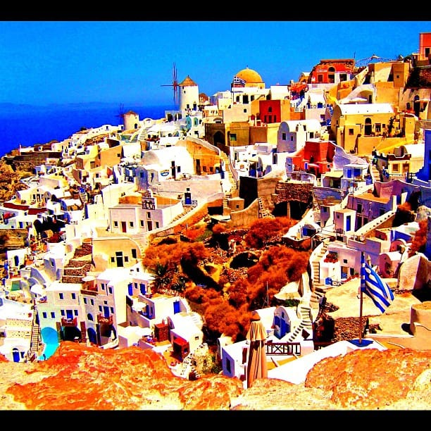 colorful santorini greece, greek isles santorini