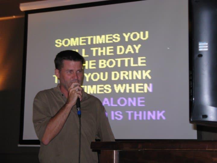 michael hodson singing Karaoke
