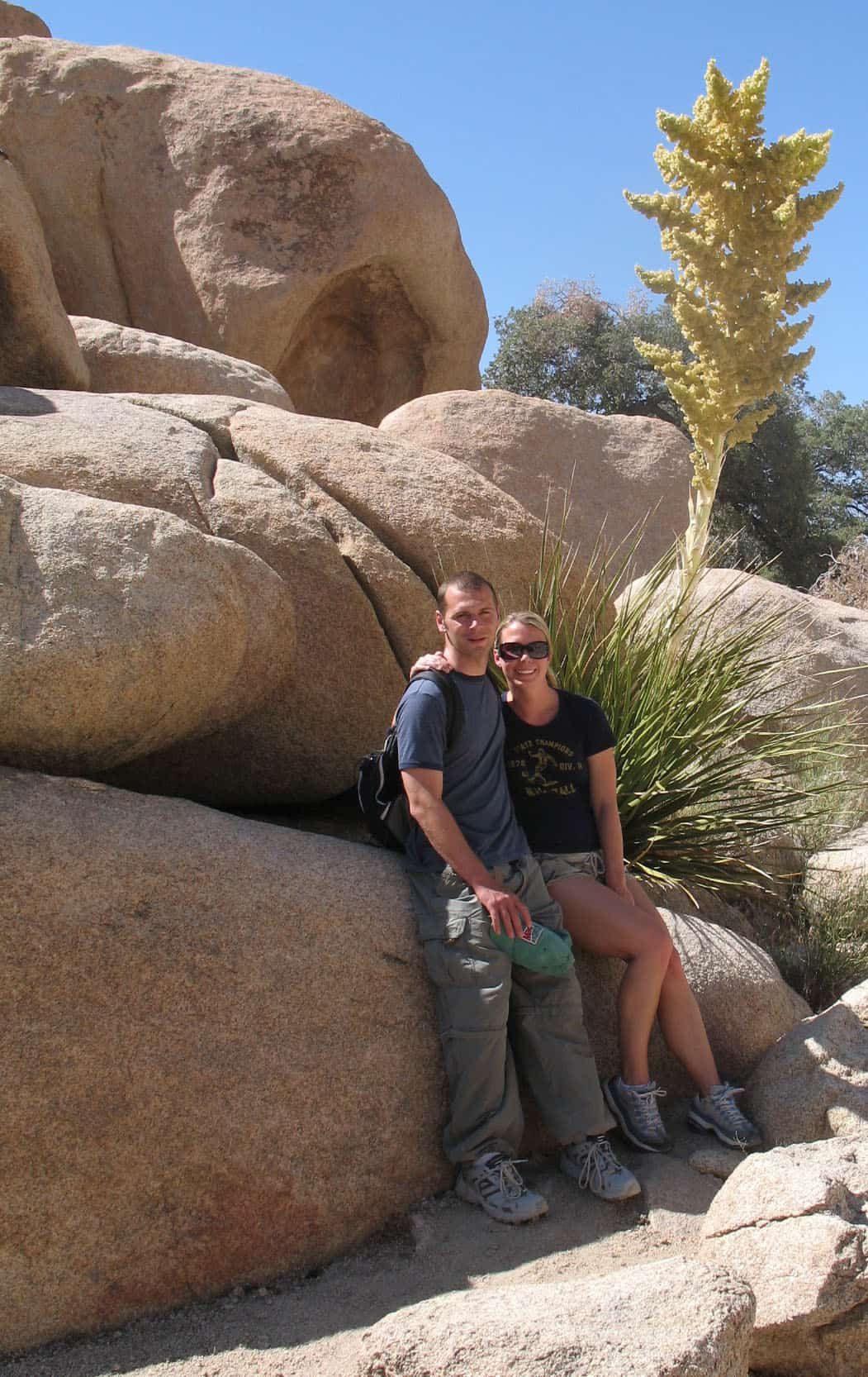 Christy and Scott at JoshuaTree