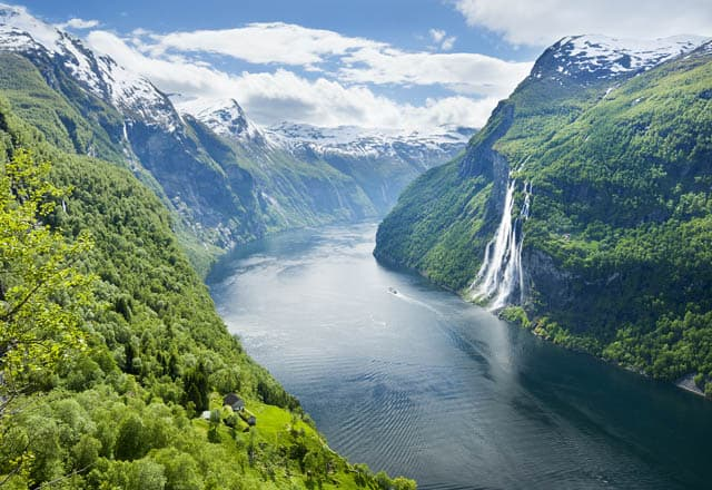 fjords of norway, mountain vacation spot in Europe