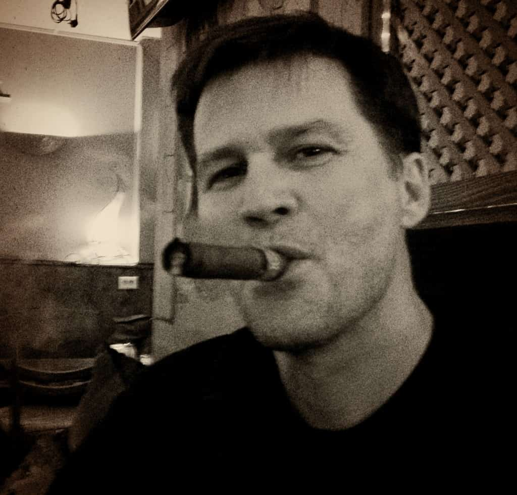 michael hodson smoking a cigar