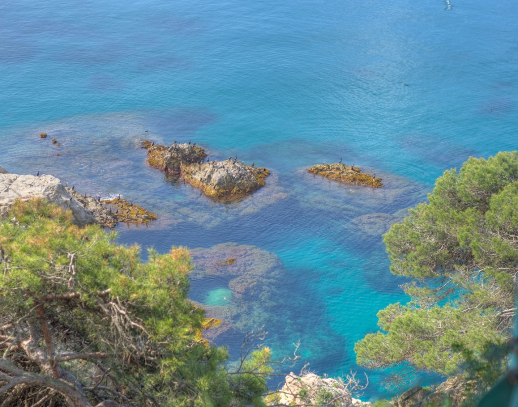 blue waters off the coast of costa brava spain