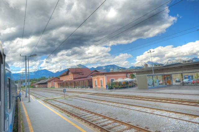 HDR small train station in europe
