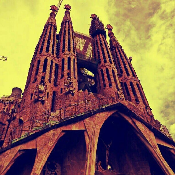 Sagrada Familia in Barcelona via instagram