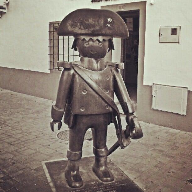 cute sailor statue denia spain