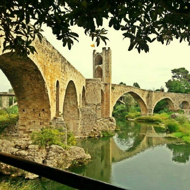 beautiful bridge in besalu spain