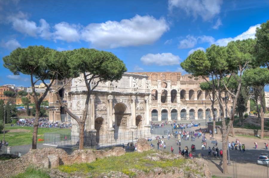Arch of Constantine is a triumphal arch in Rome