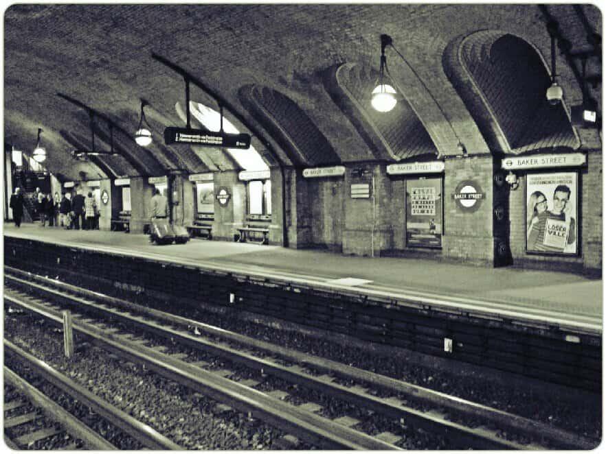 retro london underground vintage shot