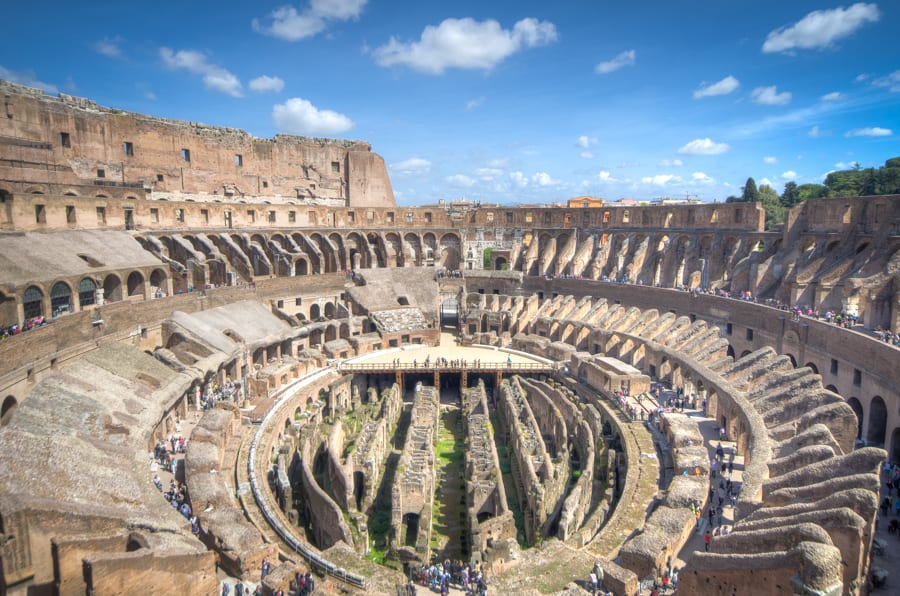 wide view of colosseum in rome things to see
