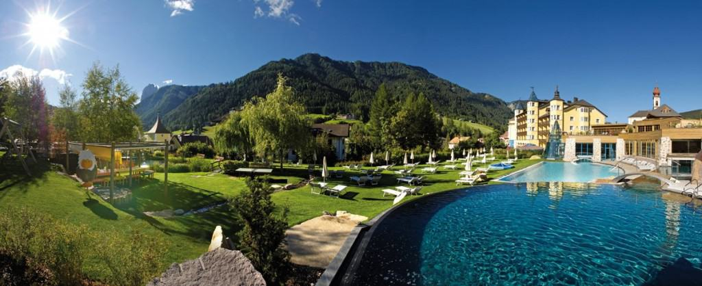 summertime at hotel adler ortisei in south tyrol