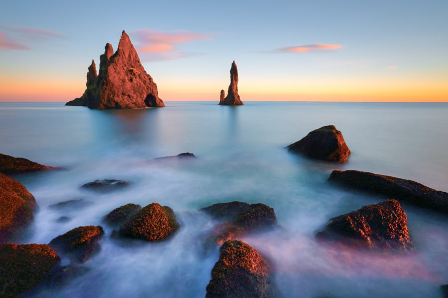 Rock formations in Vik, Iceland