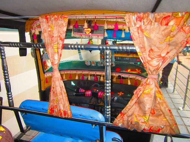 tuk tuck in india inside