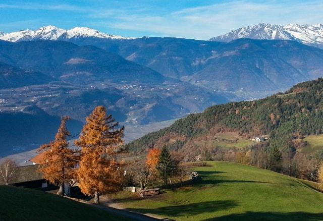 south tyrol dolomite mountains near bolzano italy