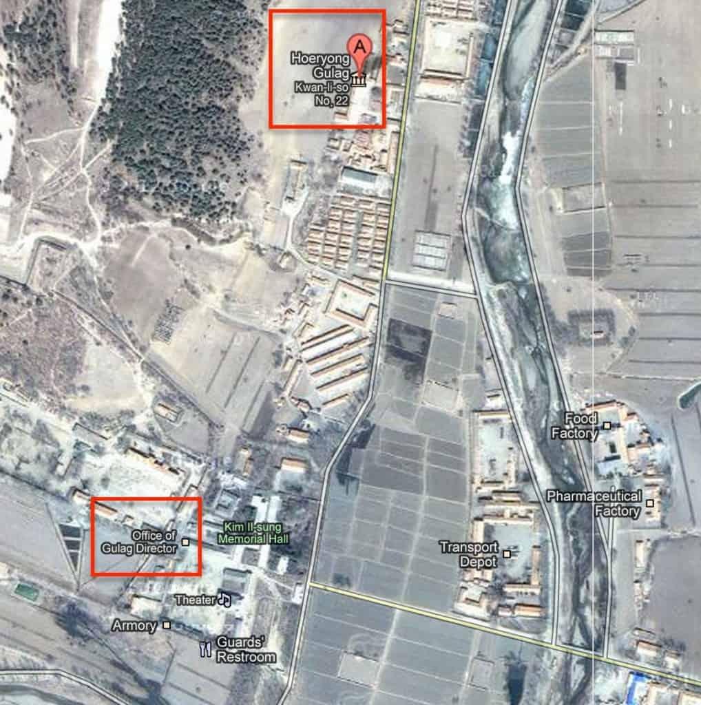 north korean gulag 22 map