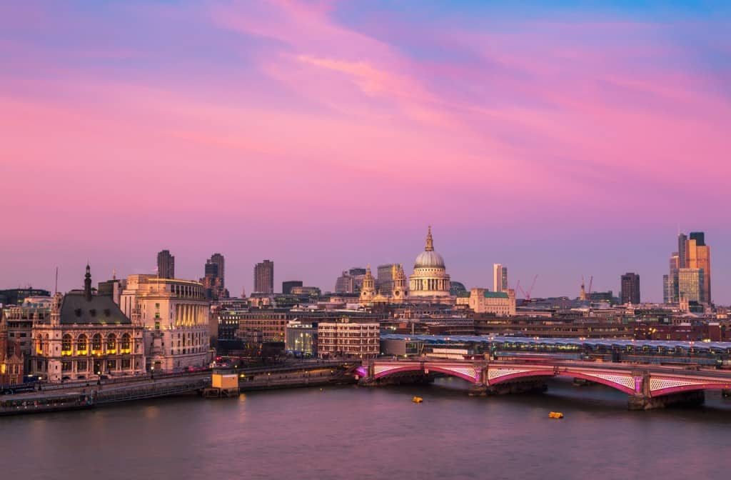 view from oxo tower in london