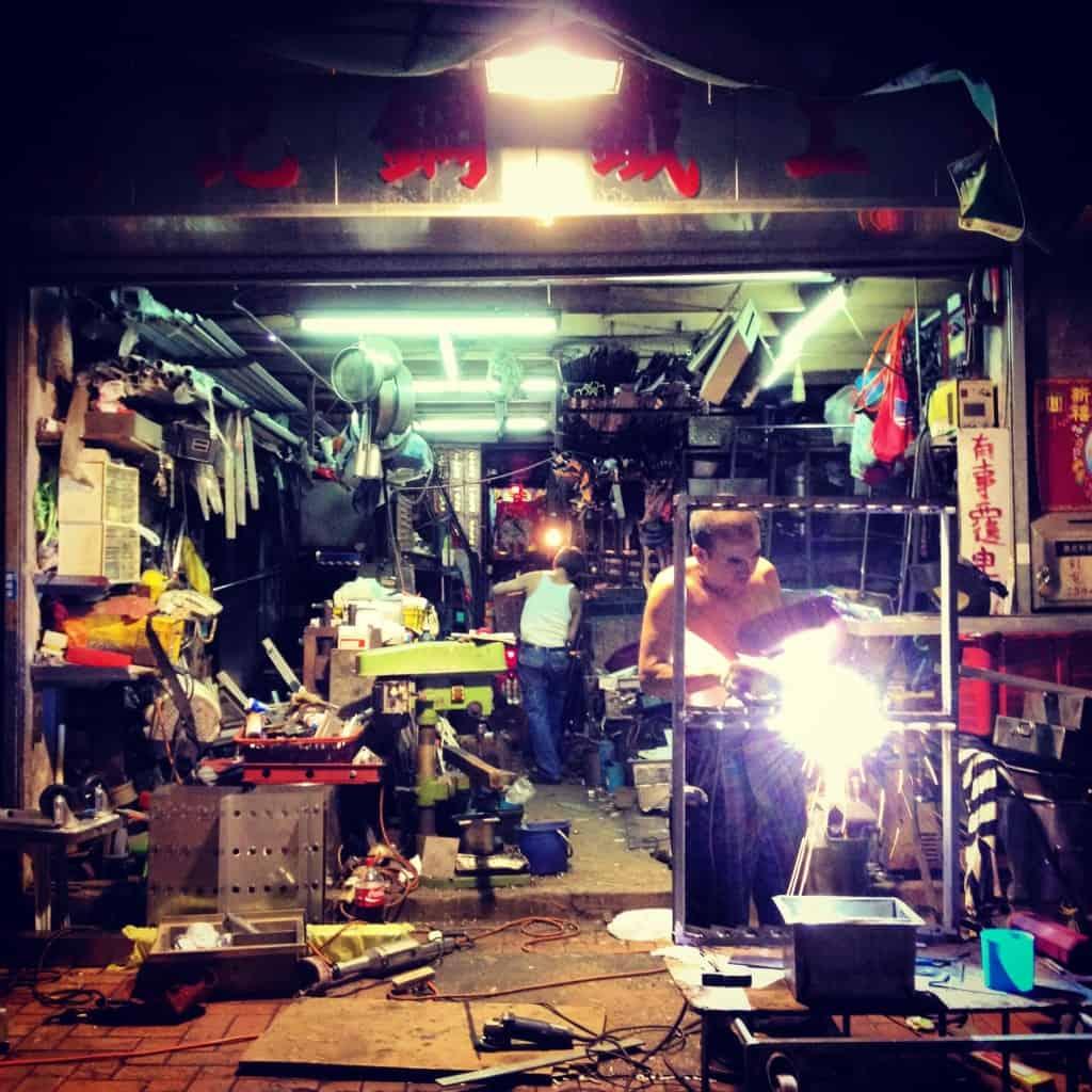Metal shop work, Sheung Wan, Hong Kong