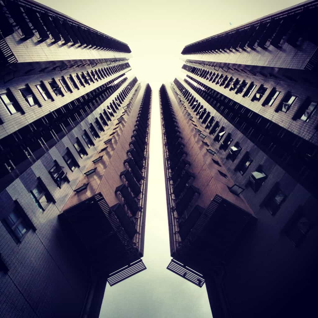 Great spires on building in Central, Hong Kong
