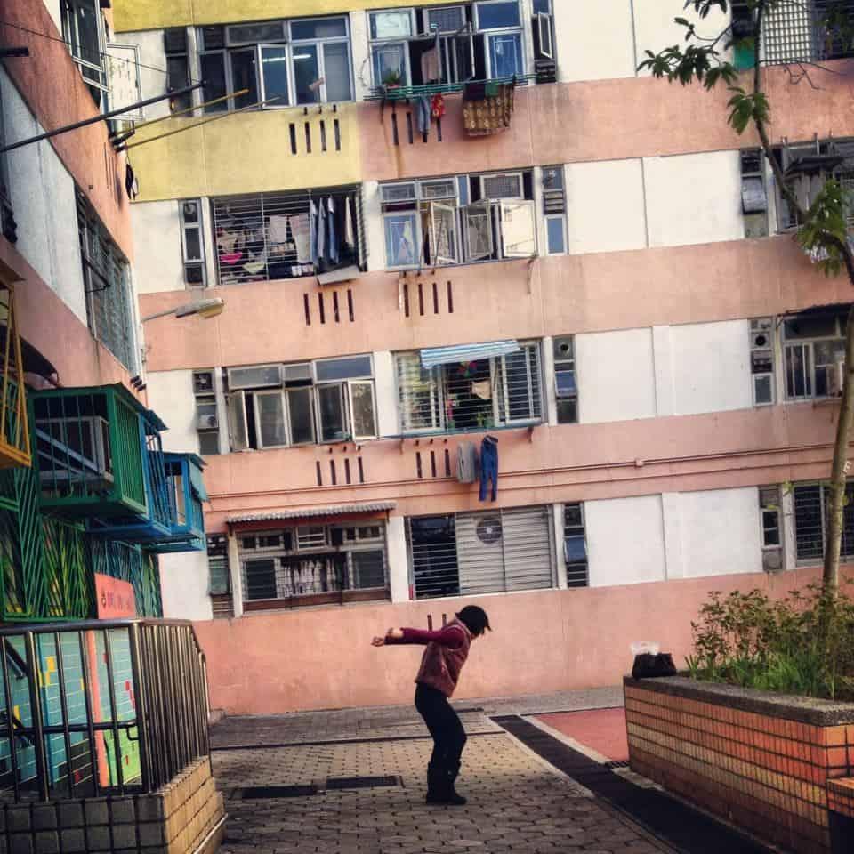 Late afternoon exercising, Kowloon Hong Kong