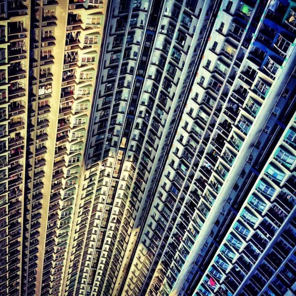 Apartment block, Kowloon, Hong Kong