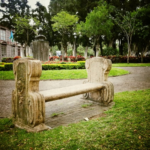 san jose costa rica park bench