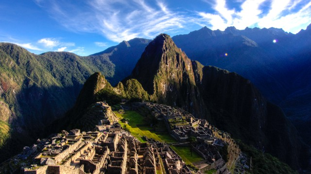 sunrise at machu pichu