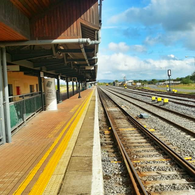 rural train station in southern ireland