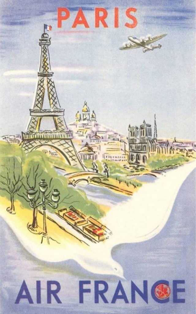 air france paris poster