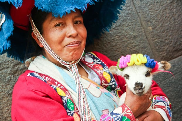 Traditional Woman in Cusco, Peru