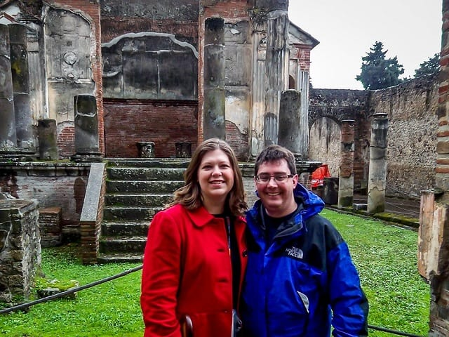 Travel Addicts at the Temple of Isis in Pompeii