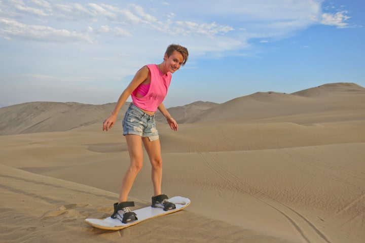 Dune Buggying in Peru