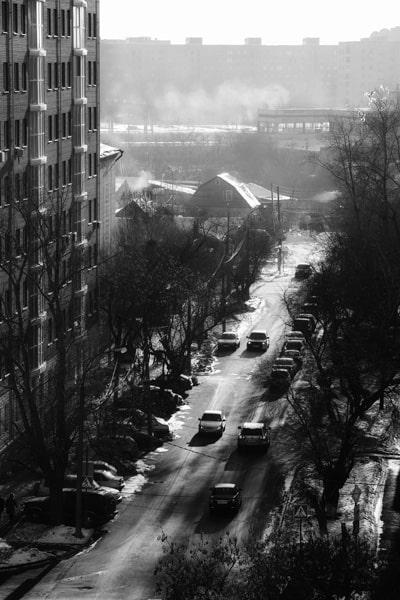 Street in Tyumen, Russia
