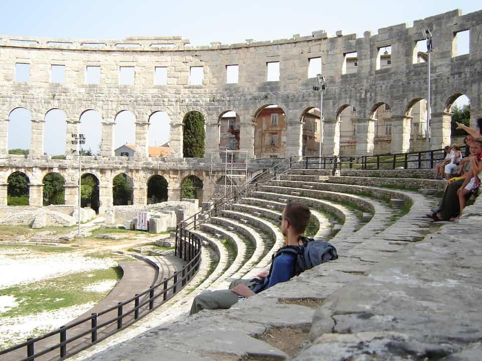 Amphitheater in Pula, Croatia