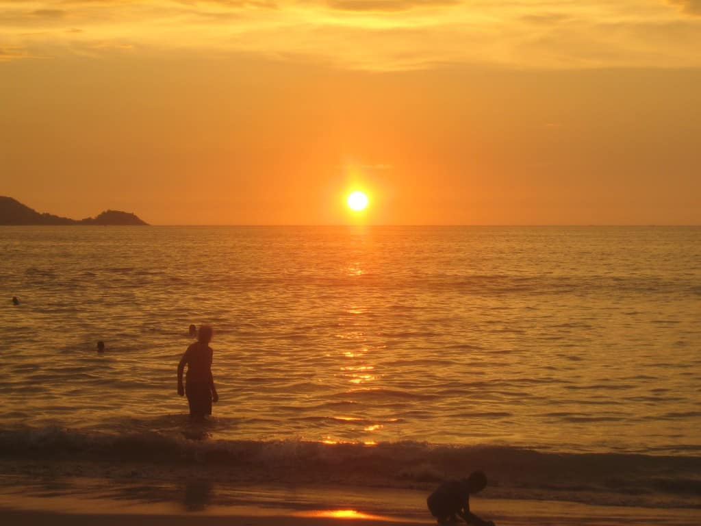 Typical Patong Beach sunset. Photo by Anne Castagnaro, 2013