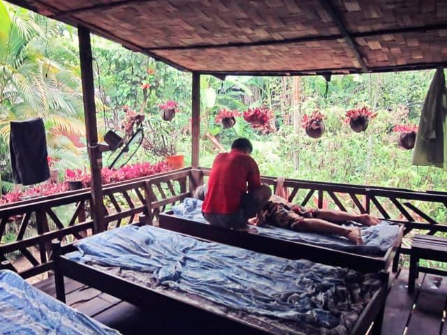 Herbal Sauna in Laos