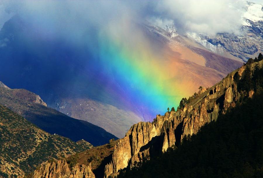 Rainbow over Nepal