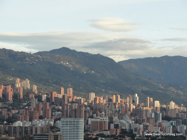 A view of the high rises of Poblado.