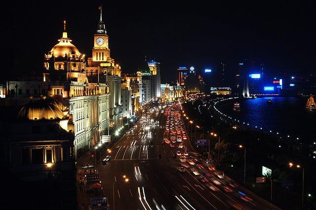 The Bund in Shanghai by Night
