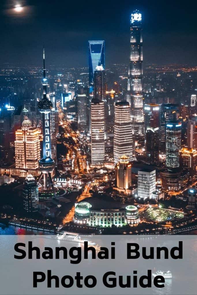 photographing the Bund in Shanghai, China
