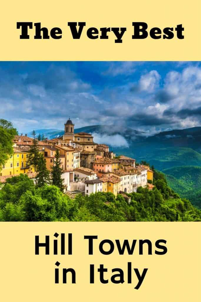best italian hill towns