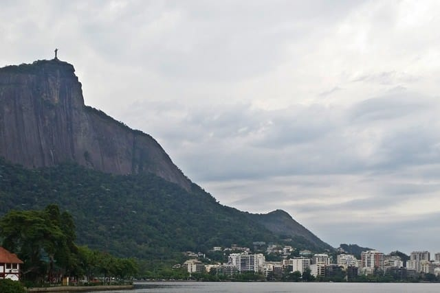 A view of Christ the Redeemer from the Lagoa