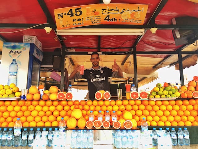Juice Stand in Marrakech
