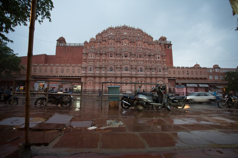 After it rained at Hawa Mahal