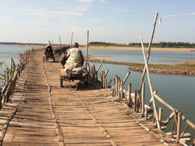 Bamboo Bridge Kampong Cham